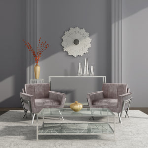 Morgan Grey Velvet Chair - Dreamart Gallery