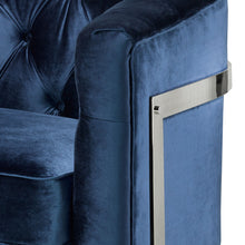 Load image into Gallery viewer, Pinnacle Blue Velvet Chair - Dreamart Gallery