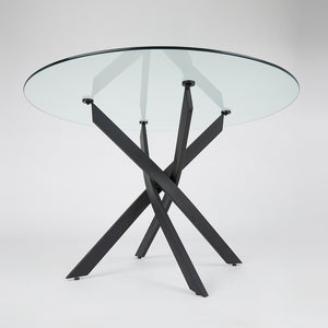 CAROL DINING TABLE BLACK - Dream art Gallery