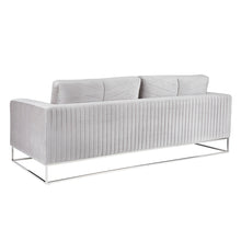 Load image into Gallery viewer, FRANKLIN SOFA GREY VELVET