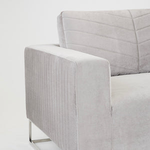 FRANKLIN SOFA GREY VELVET - Dream art Gallery
