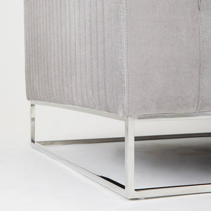 FRANKLIN SOFA GREY VELVET