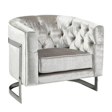 Load image into Gallery viewer, Pinnacle Grey Sheen Velvet Chair - Dream art Gallery