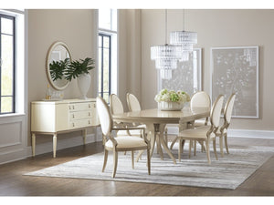 Melange Monique Rectangle Dining Table w/2-22in leaves - Dream art Gallery