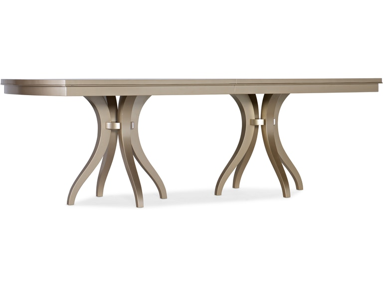 Melange Monique Rectangle Dining Table w/2-22in leaves - Dreamart Gallery