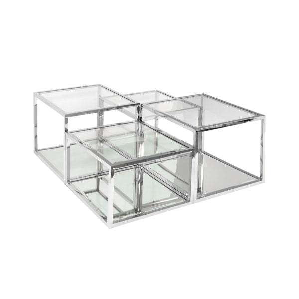 Multi-Level Silver Coffee Table - Dream art Gallery
