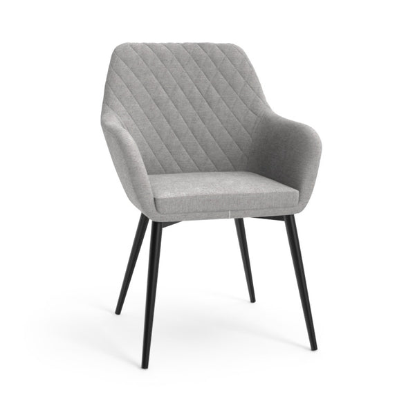 Jayna Dining Armchair - Black - Polo Club Stone