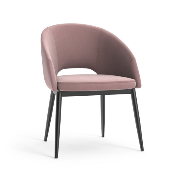 Thatcher Dining Armchair - Black - Blush Purple Sky