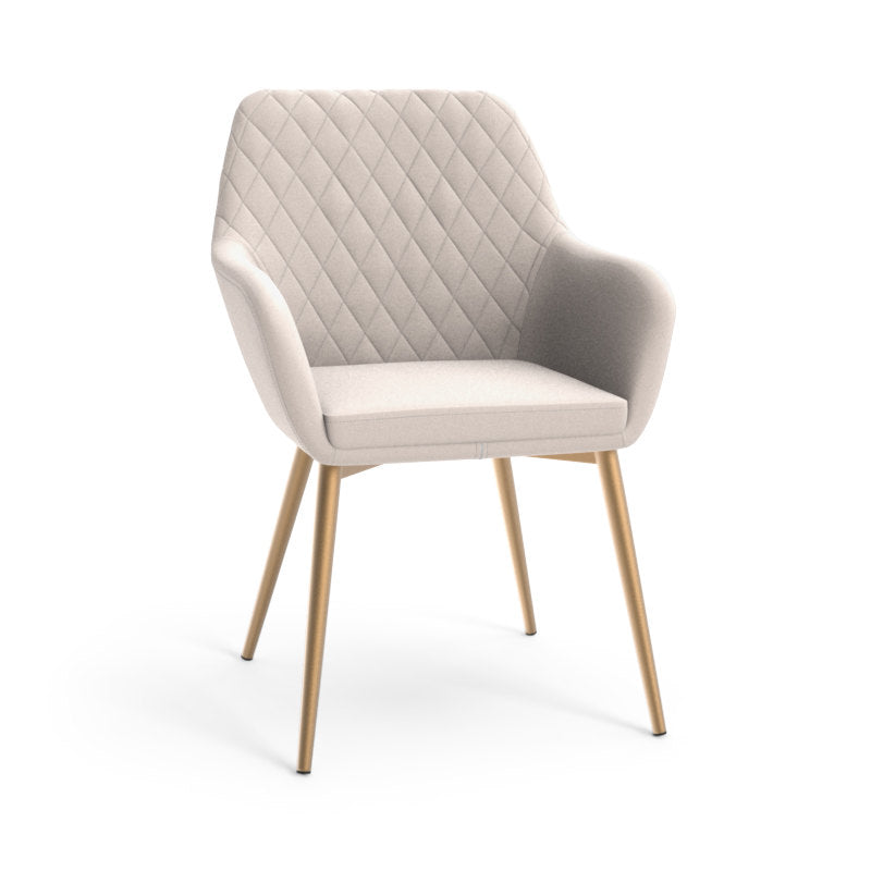 Jayna Dining Armchair - Champagne Gold - Antonio Linen - Dream art Gallery
