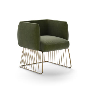 Gala Dining Armchair - Forest Green - Dream art Gallery