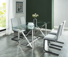 Load image into Gallery viewer, Lorenzo Dining Table in Silver - Dream art Gallery