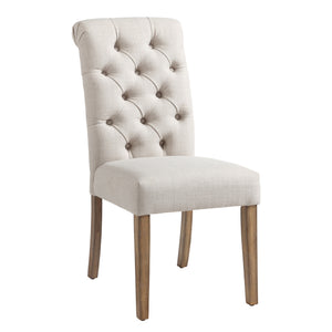 Melia Side Chair in Beige - Dreamart Gallery