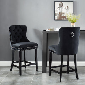 Rizzo 26'' Counter Stool in Black - Dreamart Gallery