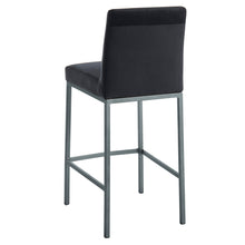 Load image into Gallery viewer, Diego 26'' Counter Stool in Black with Grey Legs