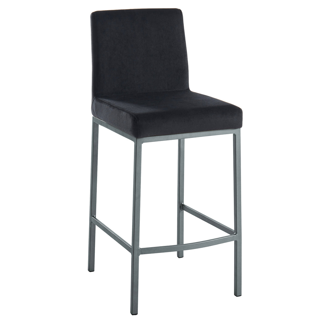 Diego 26'' Counter Stool in Black with Grey Legs