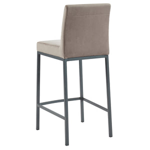 Diego 26'' Counter Stool in Grey with Grey Legs