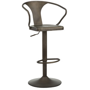 Astra Adjustable Stool in Gunmetal - Dream art Gallery
