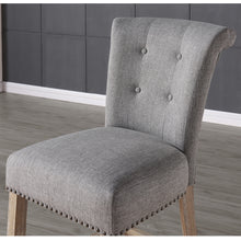 Load image into Gallery viewer, Selma 26'' Counter Stool in Grey with Vintage Oak Legs - Dreamart Gallery