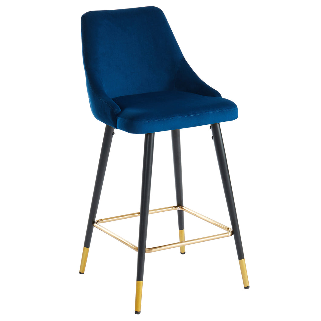 Roxanne 26'' Counter Stool in Blue - Dreamart Gallery