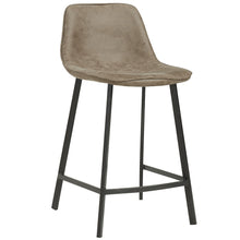 Load image into Gallery viewer, Buren 26'' Counter Stool in Vintage Brown - Dreamart Gallery