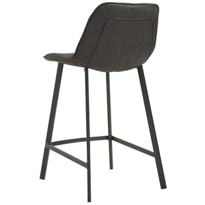 Buren 26'' Counter Stool in Vintage Grey - Dream art Gallery