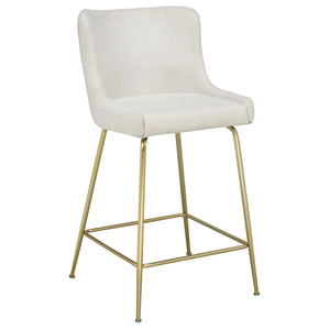 Giselle 26'' Counter Stool in Beige - Dream art Gallery