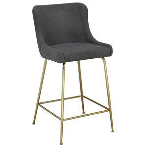 Giselle 26'' Counter Stool in Grey - Dreamart Gallery