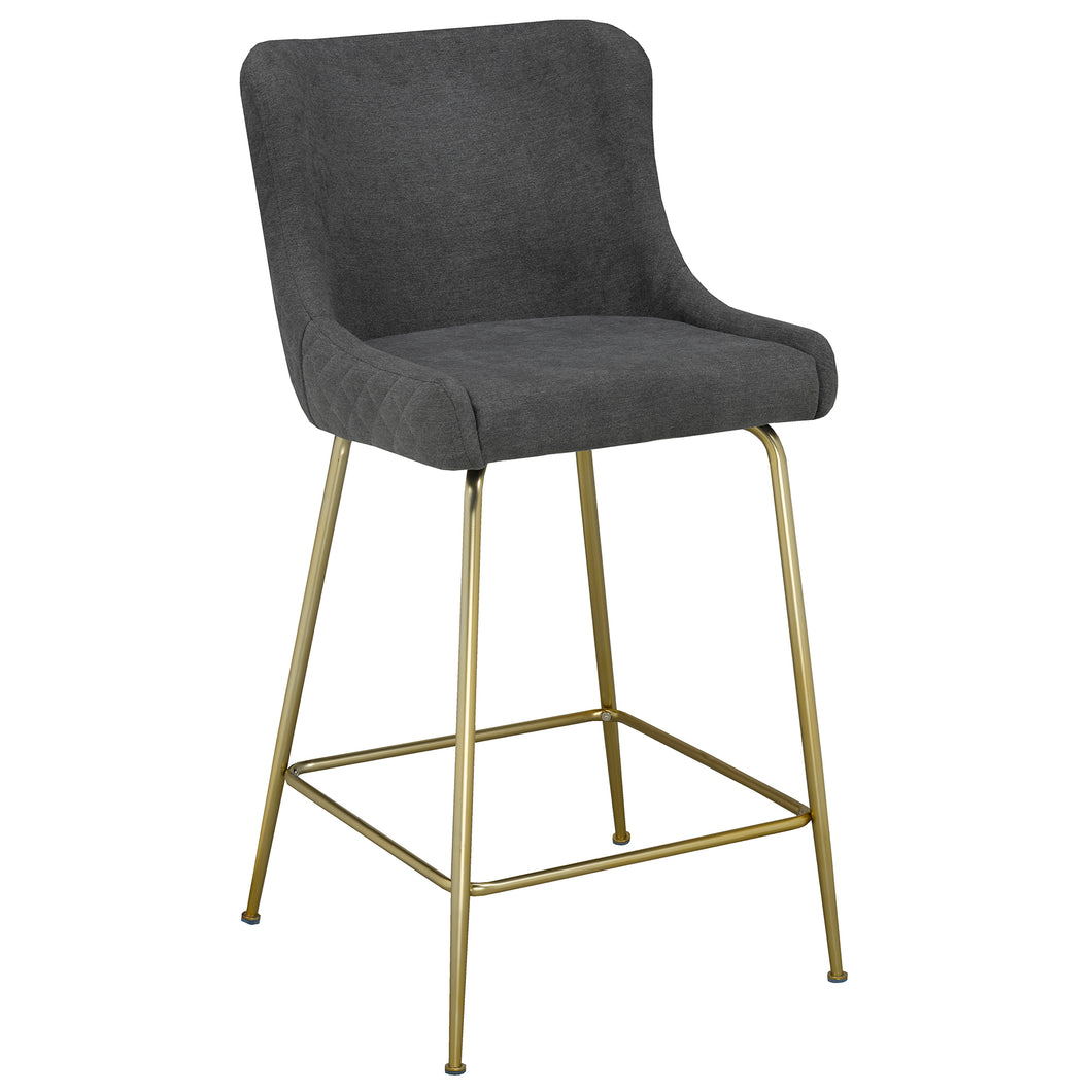 Giselle 26'' Counter Stool in Grey - Dream art Gallery