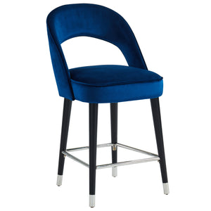 Vogue 26'' Counter Stool in Blue - Dream art Gallery