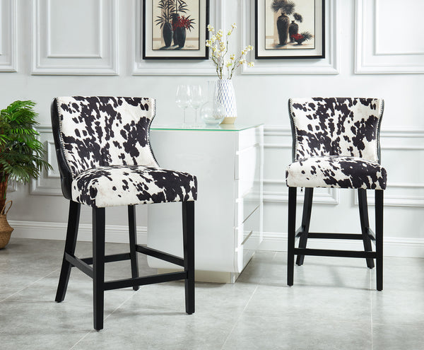 Angus 26'' Counter Stool in Black - Dream art Gallery
