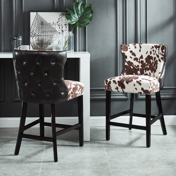 Angus 26'' Counter Stool in Brown - Dream art Gallery