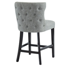 Load image into Gallery viewer, Parker 26'' Counter Stool in Grey with Coffee Leg - Dreamart Gallery