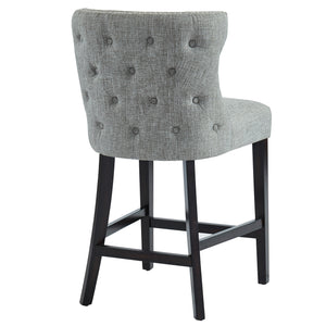 Parker 26'' Counter Stool in Grey with Coffee Leg - Dreamart Gallery
