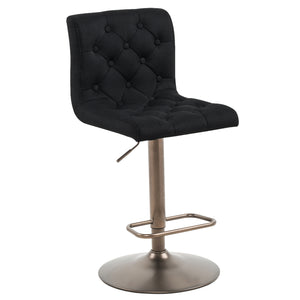 Alexa Air Lift Stool in Black - Dream art Gallery