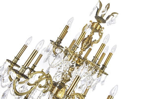 24 LIGHT UP CHANDELIER WITH FRENCH GOLD FINISH - Dream art Gallery
