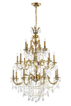 Load image into Gallery viewer, 24 LIGHT UP CHANDELIER WITH FRENCH GOLD FINISH - Dream art Gallery