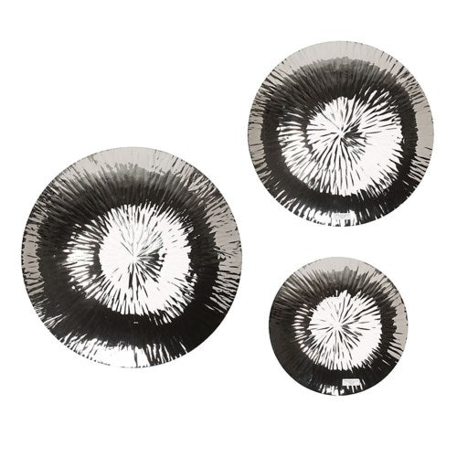 Wall Hanging Plate (set of 3) Nickle Plated