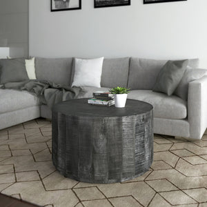 Eva Coffee Table in Distressed Grey - Dream art Gallery