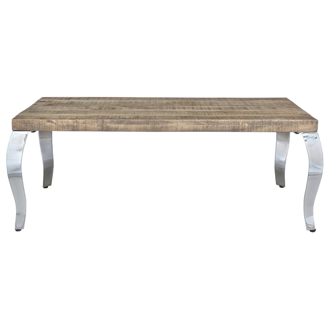 Natalia Coffee Table in Reclaimed & Chrome - Dream art Gallery