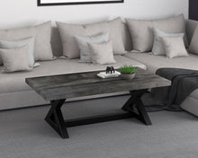 Load image into Gallery viewer, Zax Coffee Table in Distressed Grey - Dream art Gallery