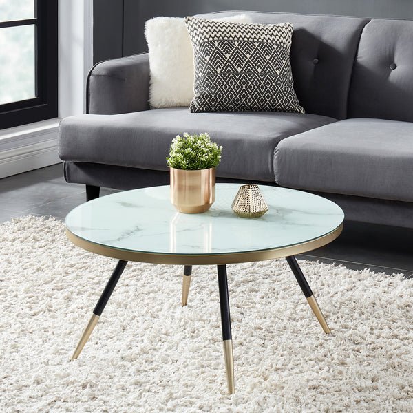 Cordelia Glass Top Coffee Table - Dream art Gallery