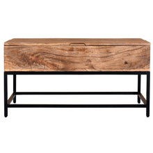 Load image into Gallery viewer, Ojas Lift-Top Coffee Table in Natural Burnt
