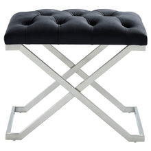 Load image into Gallery viewer, Aldo Bench in Black & Silver - Dream art Gallery