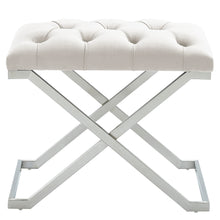 Load image into Gallery viewer, Aldo Bench in Ivory & Silver