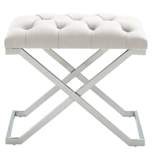 Aldo Bench in Ivory & Silver - Dream art Gallery