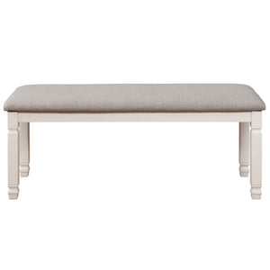 Highlands Bench in Antique White - Dream art Gallery