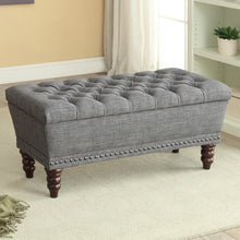 Load image into Gallery viewer, Hampton Storage Bench in Grey - Dreamart Gallery