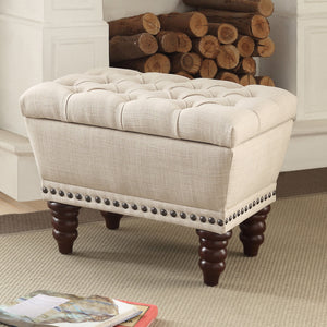 Hampton Storage Bench in Beige - Dream art Gallery