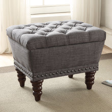Load image into Gallery viewer, Hampton Storage Bench in Grey - Dream art Gallery