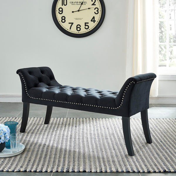 Velci Bench in Black - Dream art Gallery